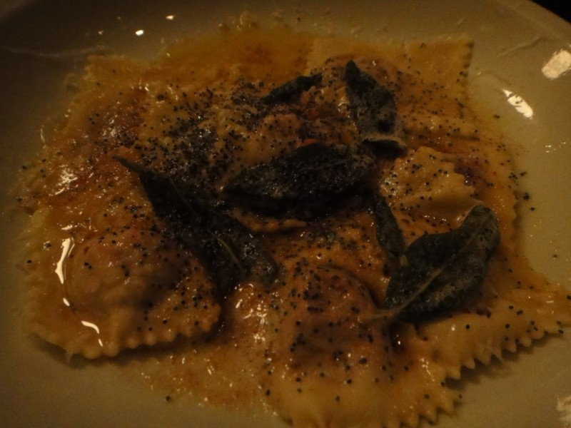 Cansunziei All'Ampezzana - Beet Filled Ravioli, Butter, Poppy Seeds and Sage Sauce