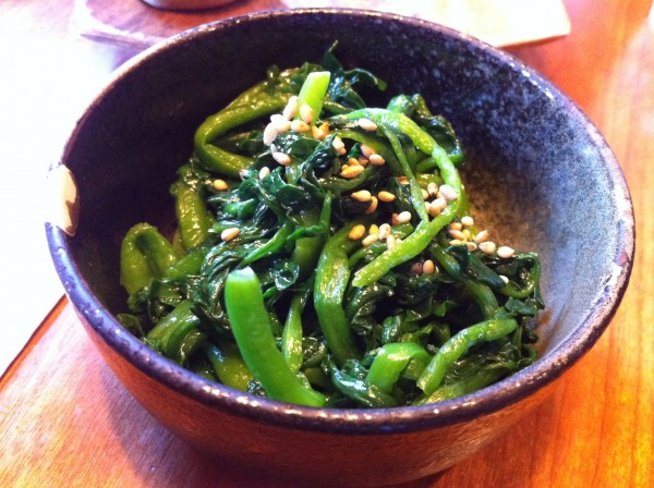 Namuru: Boiled Watercress, Sesame Oil