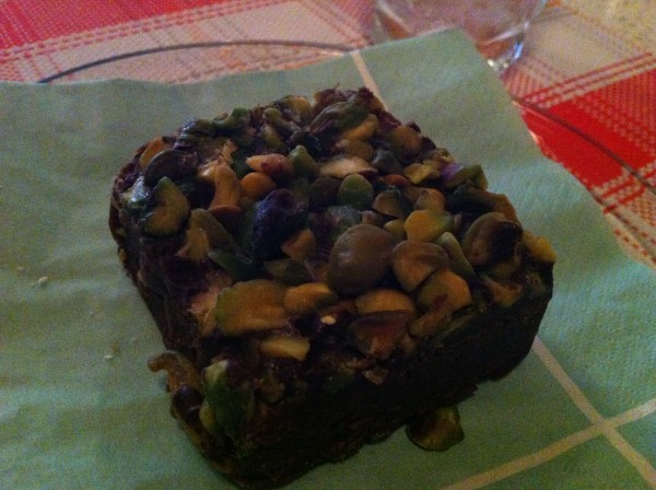 Pistachio Topped Brownie