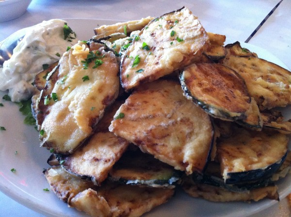 Fried Eggplant and Fried Zucchini