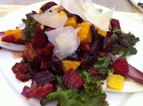 Roasted Beets with Grapefruits, Endives, Parmesan and Mixed Fruits