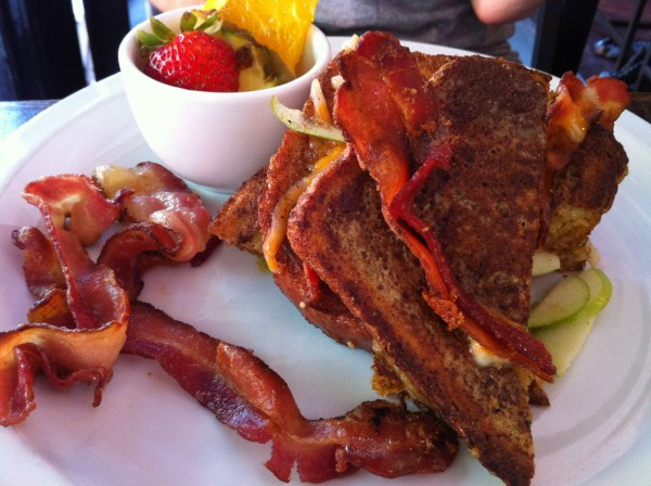 Apple Cheddar Stuffed French Toast With Bacon