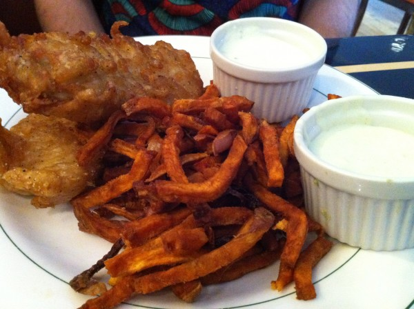 Fish n Chips with Sweet Potato Fries