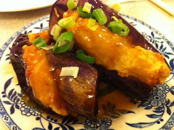 Eggplant Stuffed With Shrimp Paste