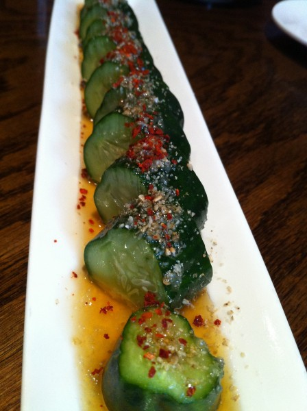 Yamitsuki Goma Kyuri - Japanese cucumber seasoned with Ippudo's original sesame oil dressing