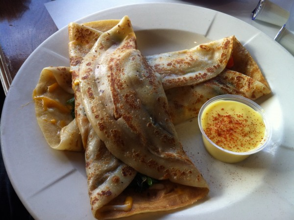 Vegetarian Crepes with Bechamel