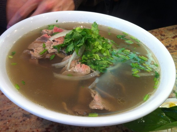 Beef Pho: Eye of round Steak and Well Done Flank