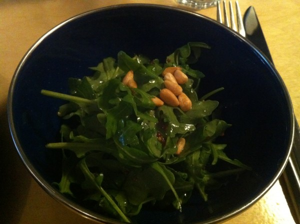 Arugula Salad with Pine Seeds