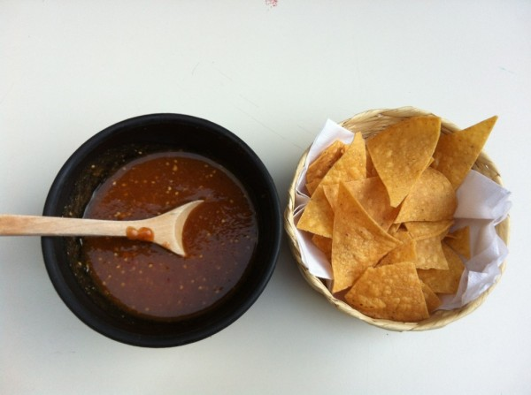 Hot Salsa and Chips
