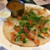 Uttapam: Soft Rice Pancake With Onions, Tomatoes and Chutney