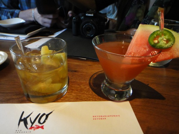 kyo montreal Pomelo Old Fashioned and Ninja (Watermelon + Jalapeno)