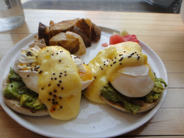 Butcher's Daughter Smashed Avocado Benedict