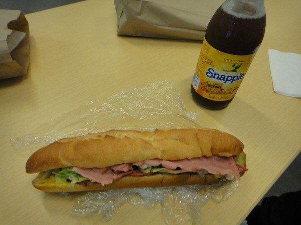 Pastrami Sandwich + Snapple Ice Tea