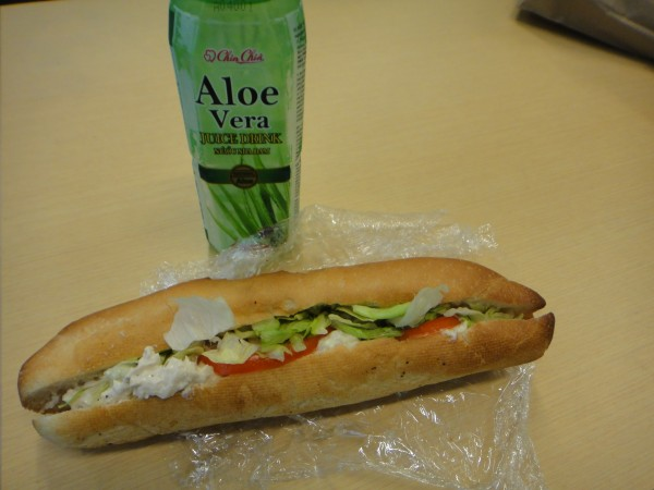 Super Sandwich Montreal Chicken Salad Sandwich + Aloe Vera Drink