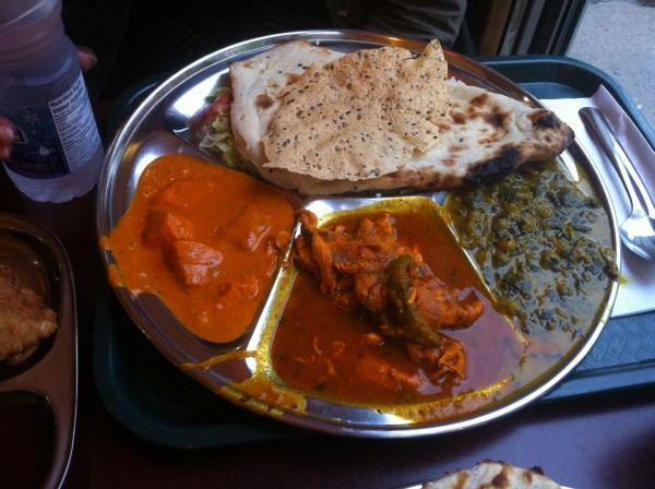Thali montreal Thali Platter: Butter Chicken, Lamb Curry and Spinach Paneer