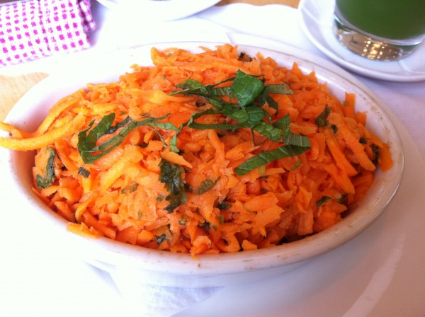 cafe gitane Carrot Salad, Cilantro, Mint, Orange Blossom