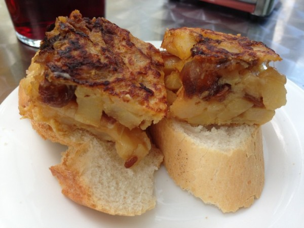 Potato Cake on Bread