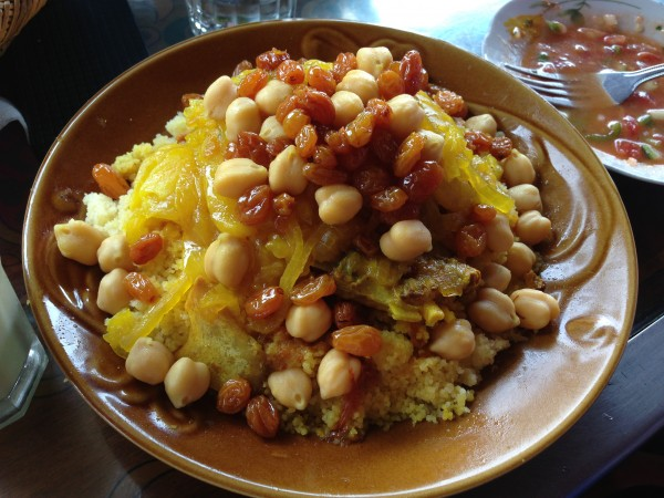 Beef Coucous with Onions, Chick Peas and Raisins