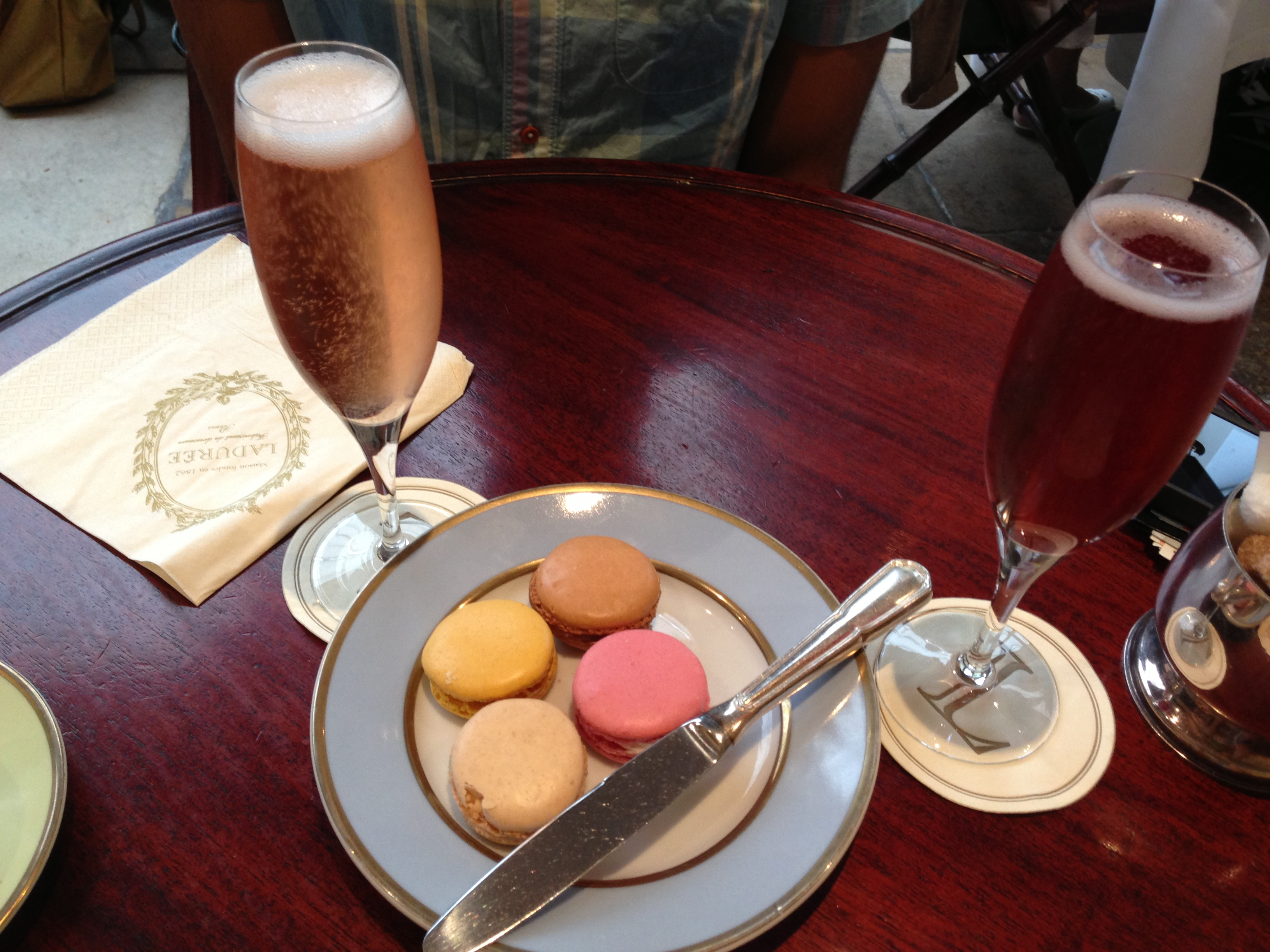 Kir Royale and Ladurée KIr Royale, Macarons