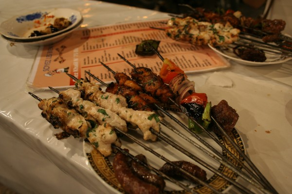 marrakech street food Mixed Grill Skewers