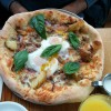 Pizza Festa: Potatoes, Two Sunny Eggs, Pancetta, Sausage