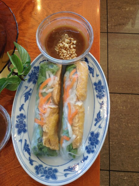 Pho Hung toronto Vegetarian Spring Rolls with Peanut Sauce
