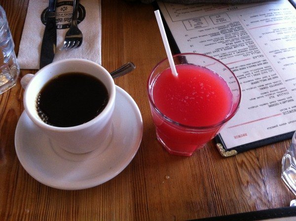 Lil' Baci Taverna Toronto Coffee and Raspberry Lemonade