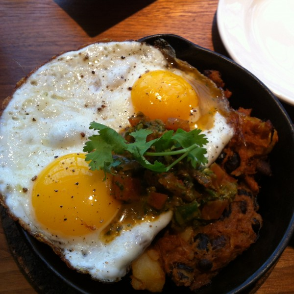 Mildred's Temple Kitchen Big Skillet: Pulled Pork, Sunny Eggs, Potatoes