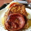 Challah French Toast, Fried Egg & Veal Pancetta