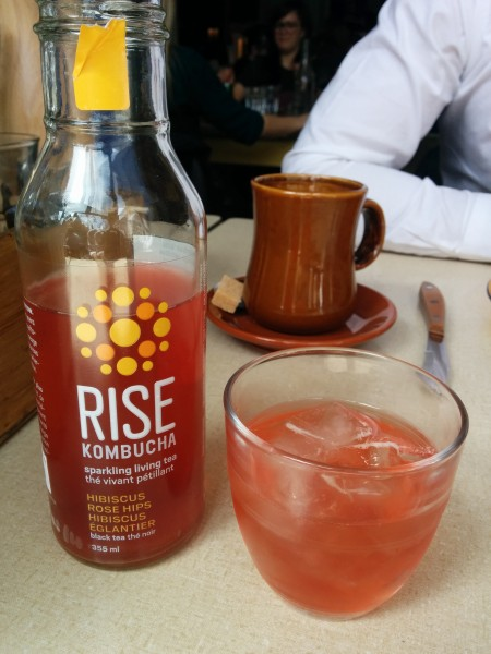 Rose Hip and Hibiscus Kombucha, Coffee