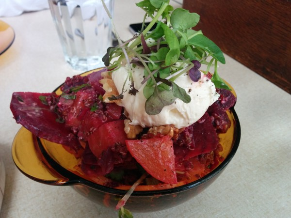 Beet Salad, Quinao, Goat's Cheese, Walnuts