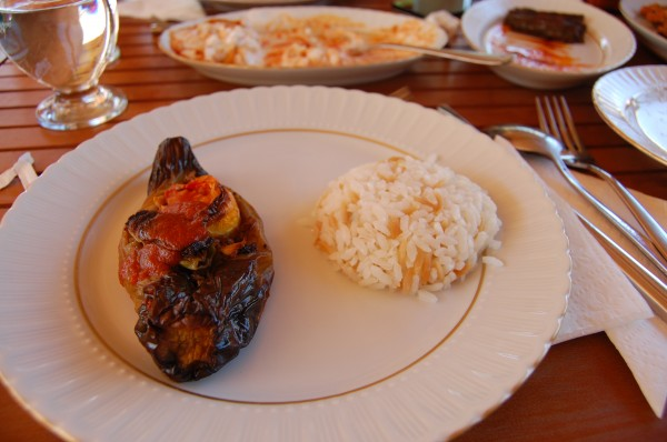 Stuffed Pepper Baked with Vegetables and Rice