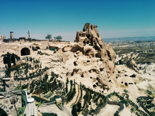 View from the Seki Lounge at Argos in Cappadocia