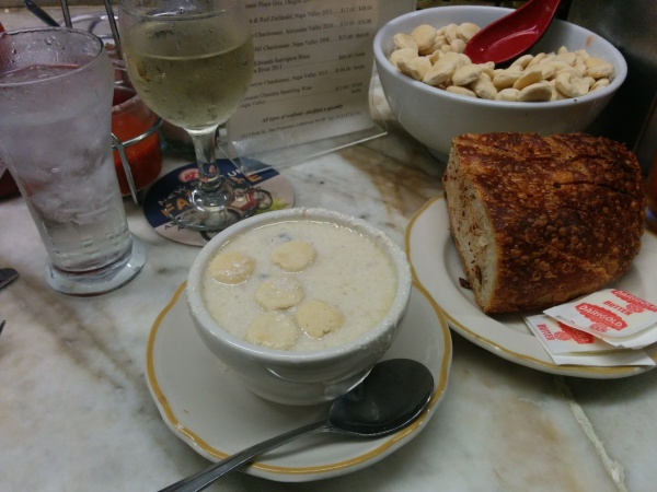 Swan Oyster Depot Cup of Clam Chowder, House Bread and Butter