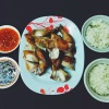 Whole Roast Chicken, Sticky Rice, SP Sauce