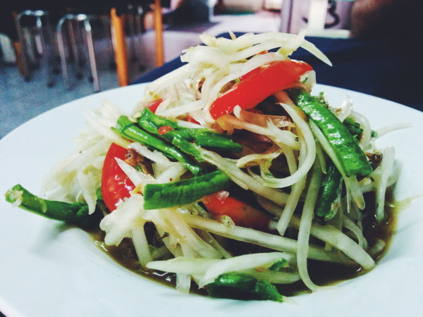 Spicy Green Papaya Salad with Salted Crab
